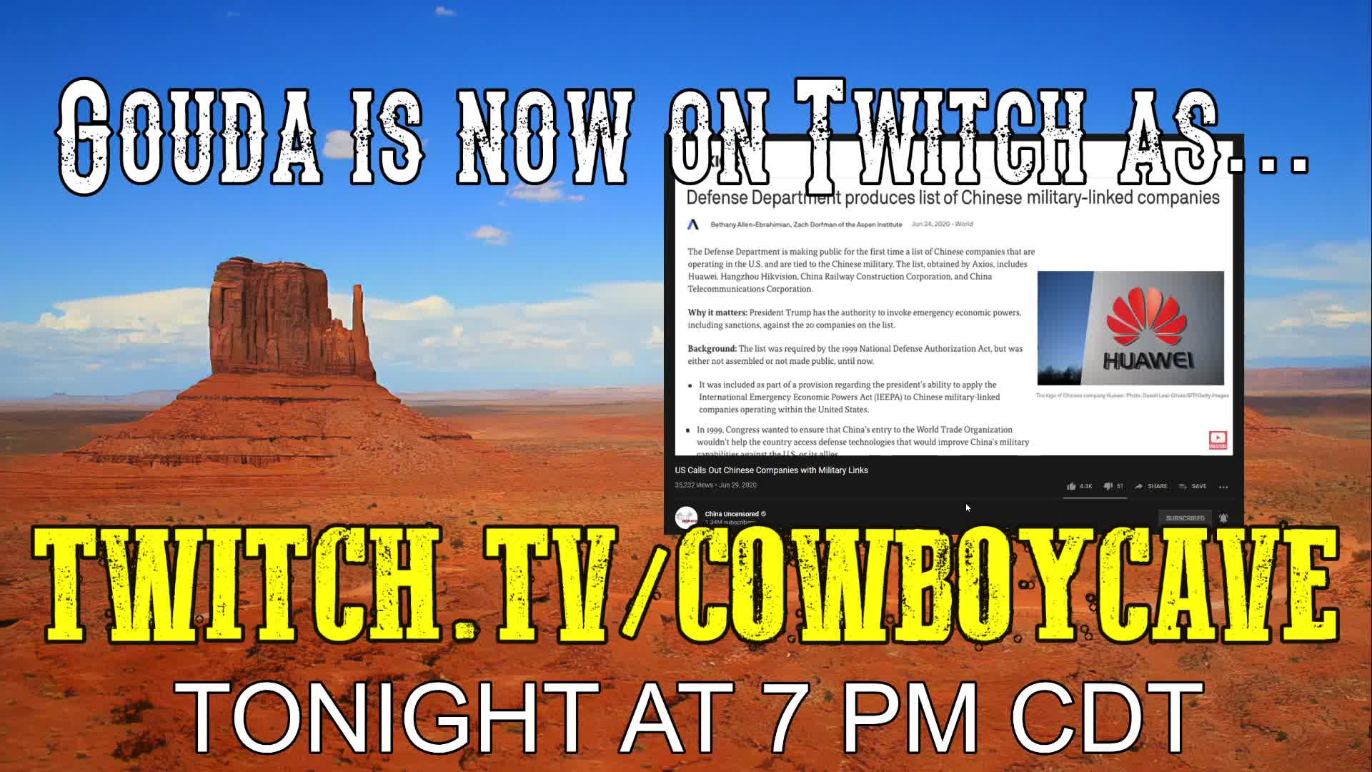 ONLY ON twitch.tv/CowboyCave