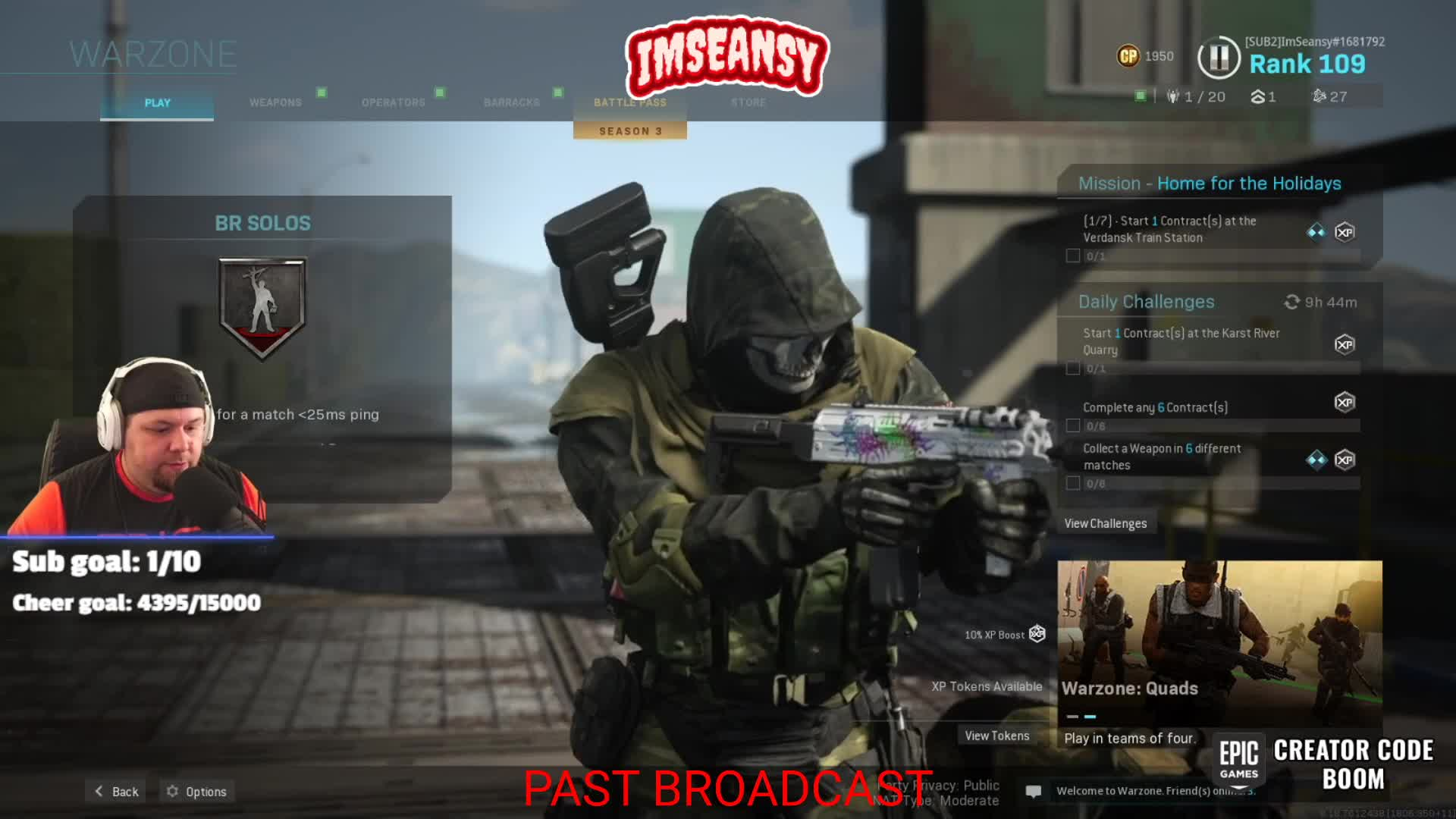 ImSeanema: past broadcasts, podcasts, and vod content! !channel
