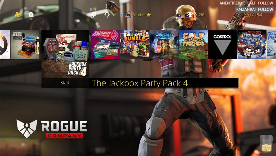 Jackbox with the team and audience