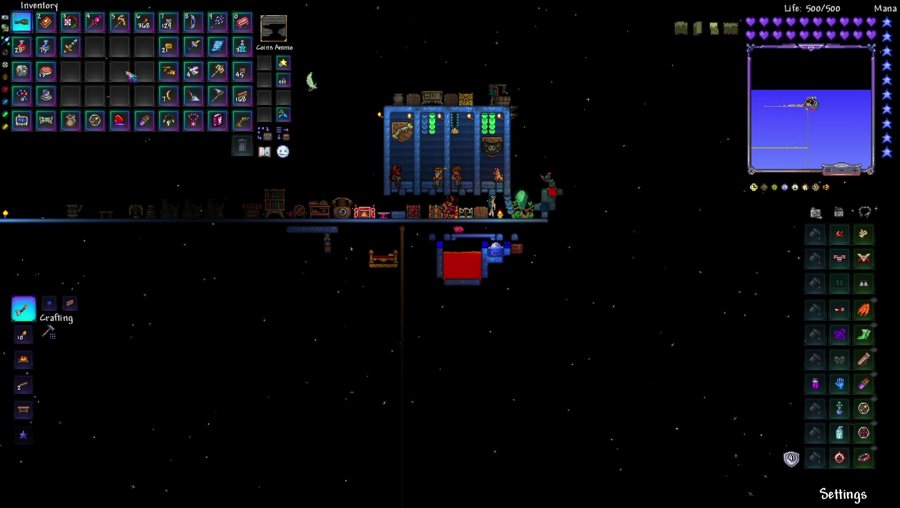 Terraria - Skyblock Master mode but Biome key farming is still infuriating