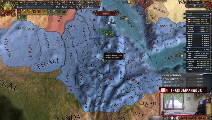 EU4 - Seguimos con Etiopía  - novedades hoi4 !logro