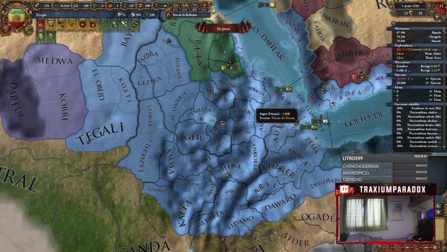 EU4 - Seguimos con Etiopía  - buscando el dd del ck3 :( !logro