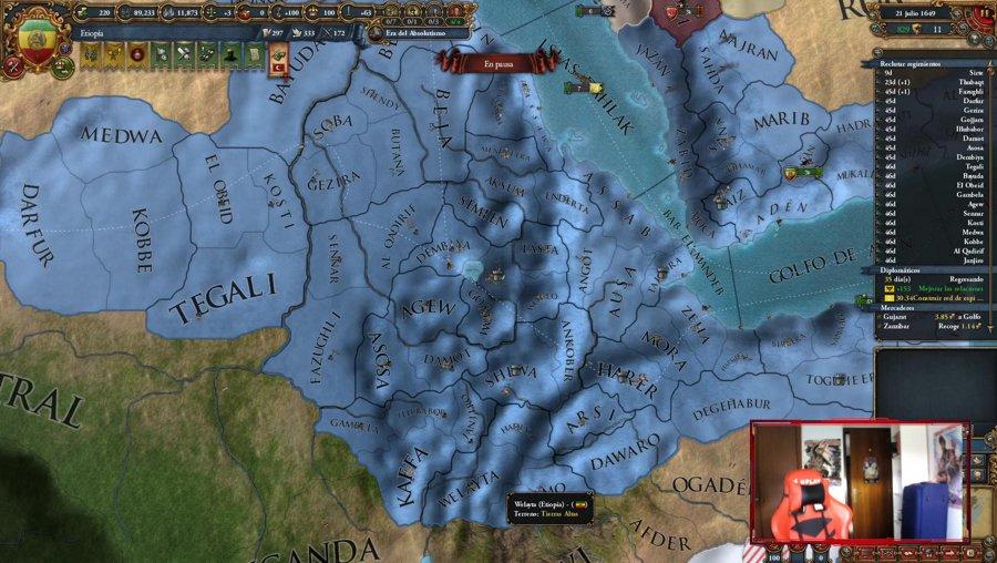 EU4 - Seguimos con Etiopía  - novedades paradox !logro