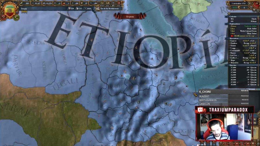 EU4 - Terminamos la campaña de Etiopía y probamos el DLC del AOE2! - !logro !sorteo