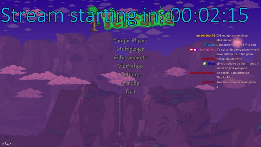 Terraria challenge, discard starting pickaxe and kill 3 bosses