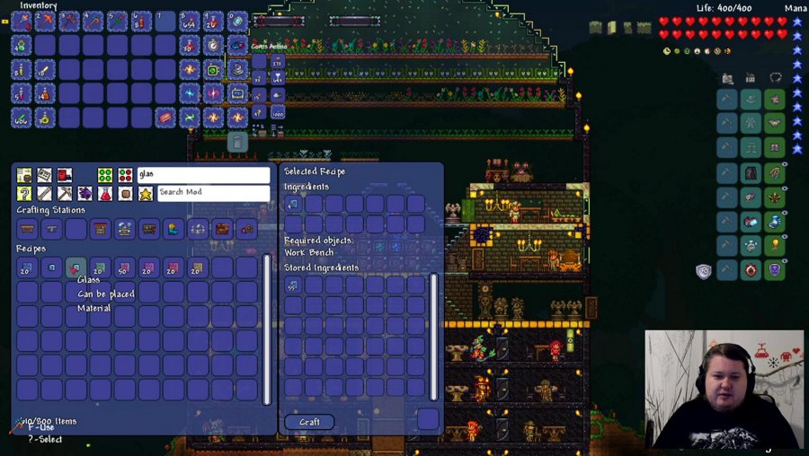 Modded Terraria (Calamity - Overhaul - Spirit - Magic storage - boss checklist) and TemTem? || !schedule - !halcyon