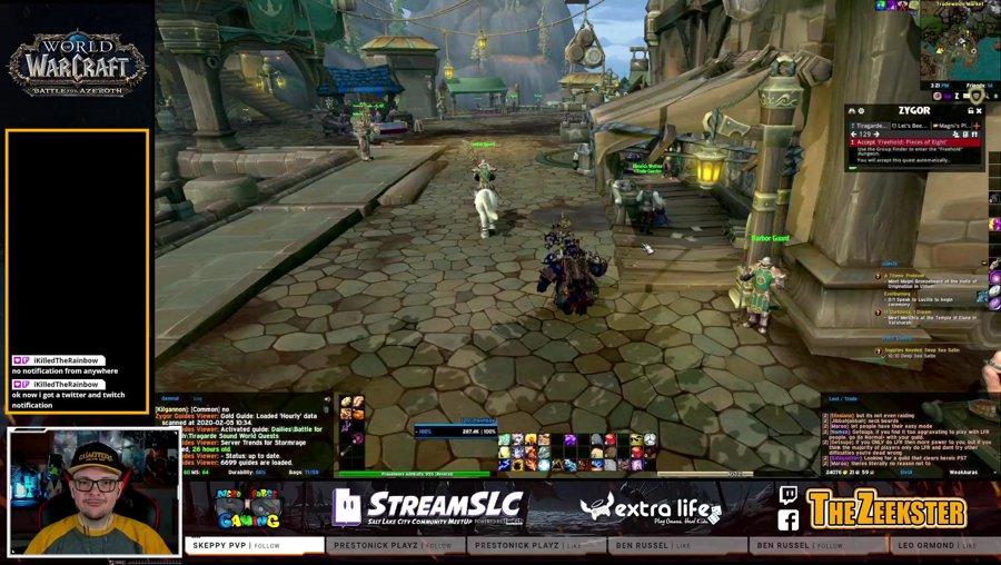 Warcraft Wednesday!  Doing retail story stuffs.