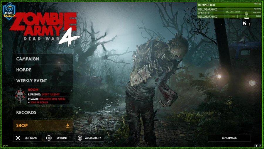 Late night zombie shooting