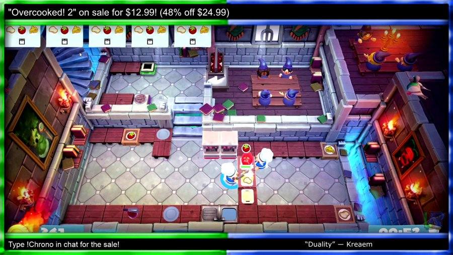 Overcooked! 2 Sale! (48% Off!) - Twitter: @LazyR1co - Type !Chrono for Sale  (Cast #1319)