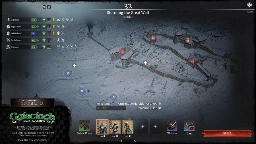 Gaiscioch vs the Great Wall in Conqueror's Blade