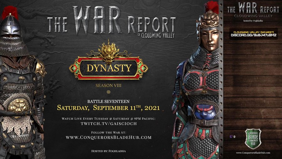 Battle 17: The War Report of Cloudwing Valley (NA-West) - GIVEAWAY
