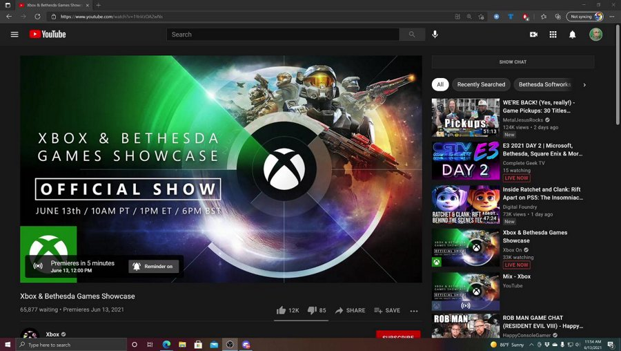 It's time for the Xbox and Bethesda Showcase! Live reactions here!