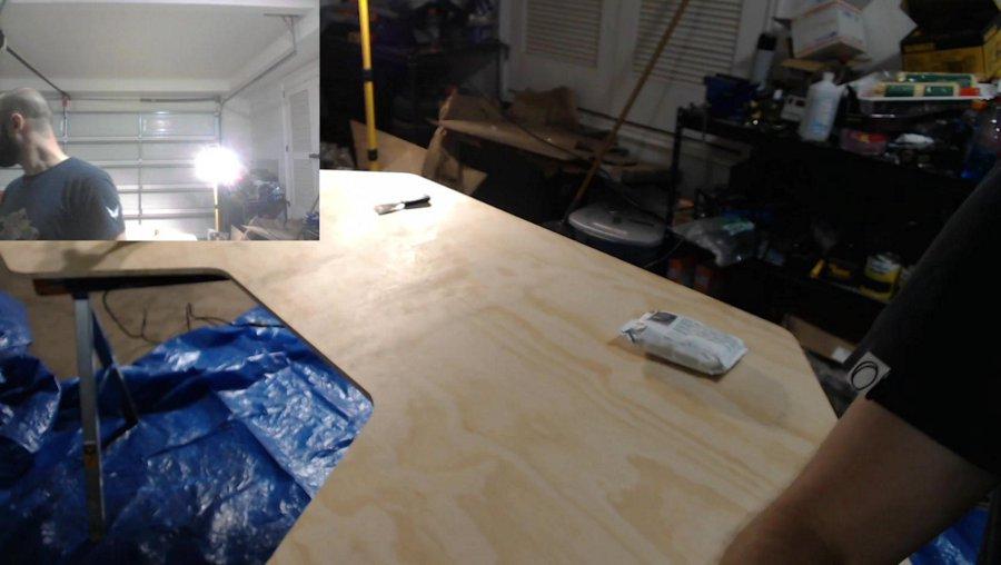 Late Night Woodworking - Testing Garage Stream