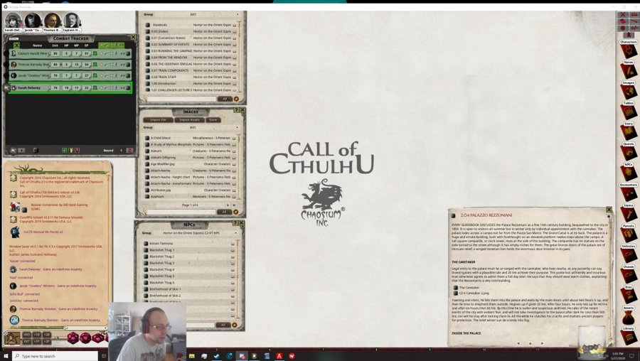 (DM) Call of Cthulhu - Orient Express - Fantasy Grounds [PC] ENG