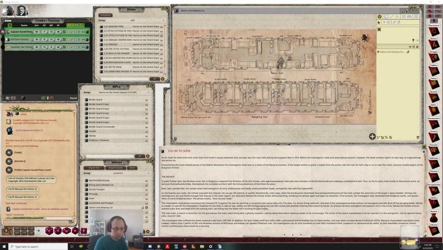 DM - Call of Cthulhu - Horror on the Orient Express [ENG]