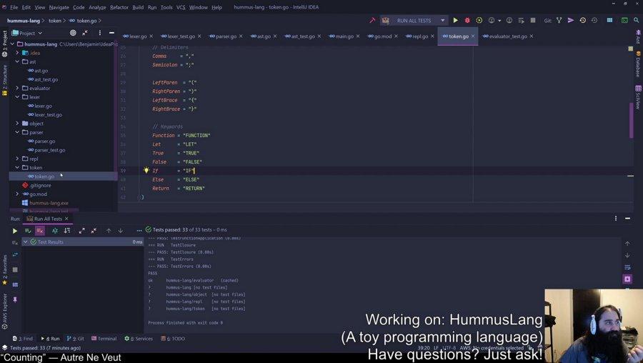 [Go] Let's Make a Programming Language