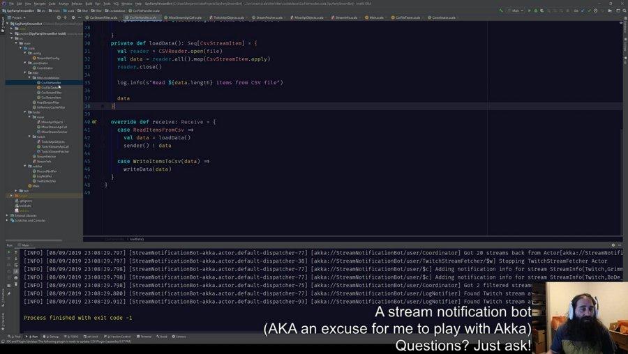 [Scala] [Programming] Twitch and Mixer Notification Bot