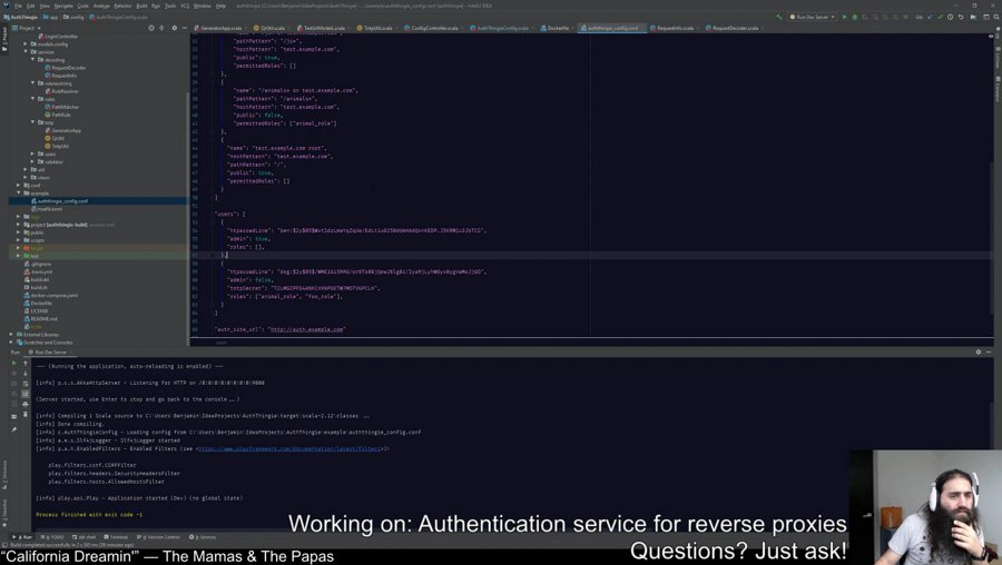 [Programming] [Scala] Authentication layer for reverse proxies...