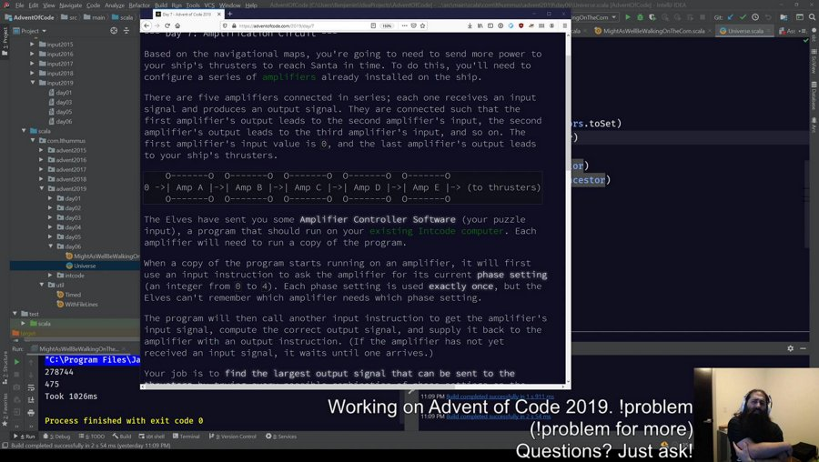 [Scala] Advent of Code 2019 catch up....been traveling so let's get this show on the road