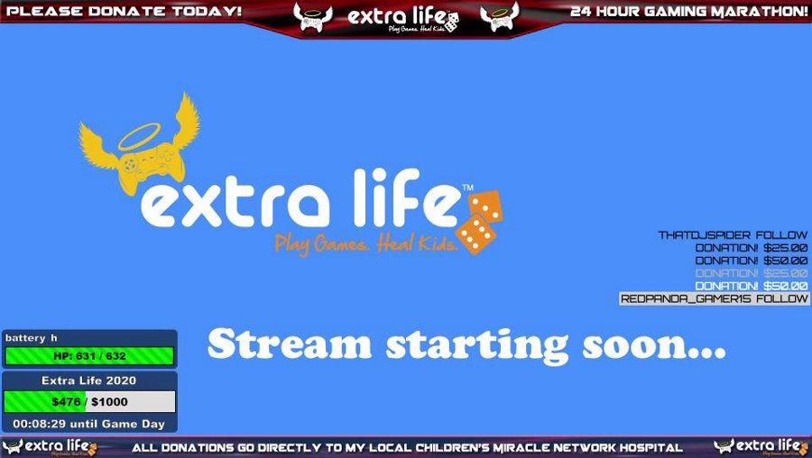 24-HOUR CHARITY STREAM! Extra Life 2020 - !extralife