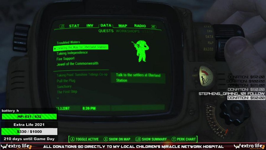 Wandering the wasteland - !extralife !fo4mods