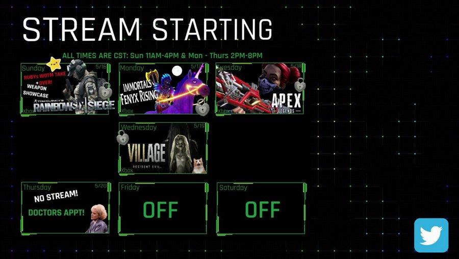 (Xbox) Ruby's WOTM TAKE OVER + Weapon Showcase @4pm cst - !onyx #BLM #SAH #MaskUp #TheArmory