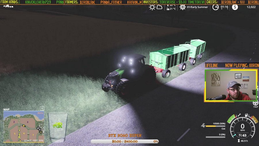 Harvest time on Bjornholm (Farm Sim Network)!  | !fsn | !points