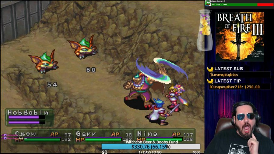 Breath of Fire 3: The desert of sweaty testicles