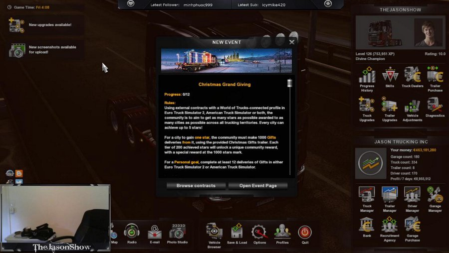 [ENG-PC] Euro Truck Simulator 2 - Friday Night Trucking - Achievo's and Christmas Deliveries